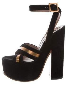 Rochas Crossover Platform Sandals
