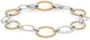 Alor Women's Diamond, 18K Yellow Gold & Stainless Steel Link Bracelet