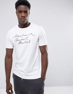MANGO Man Neutral Print T-Shirt In White