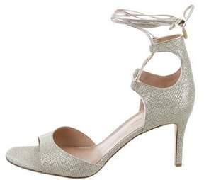Diane von Furstenberg Rimini Metallic Sandals