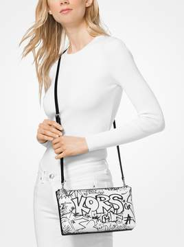 MICHAEL Michael Kors Adele Graffiti Leather Crossbody