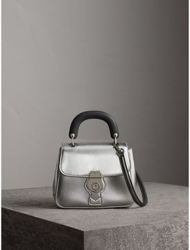 Burberry The Small DK88 Top Handle Bag in Metallic Leather