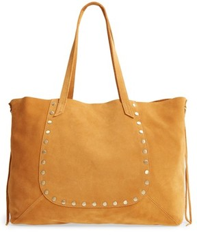 Hobo Journey Studded Suede Tote - Yellow