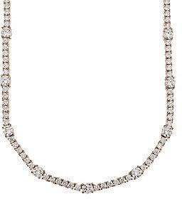 Diamonique As Is Luxury Classic 20 Tennis Necklace