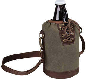 Picnic Time Growler Tote with Amber Glass Growler