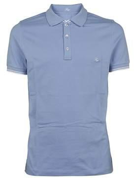Fay Men's Npmb236134sit0u012 Light Blue Cotton Polo Shirt.