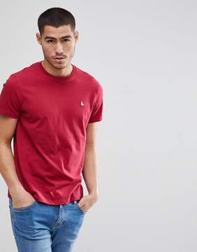 Jack Wills Sandleford Logo T-Shirt in Red