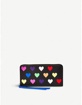 Loewe Hearts Zip Around leather wallet