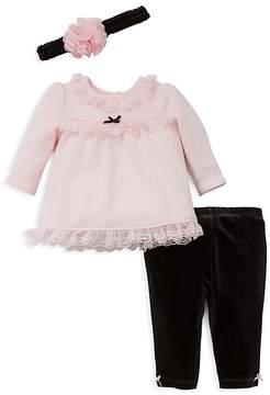 Little Me Girls' Sweater, Leggings & Headband Set - Baby