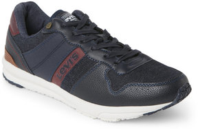 Levi's Navy & Burgundy Baylor Denim Low Top Sneakers