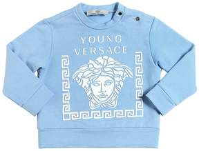 Versace Rubberized Print Cotton Sweatshirt