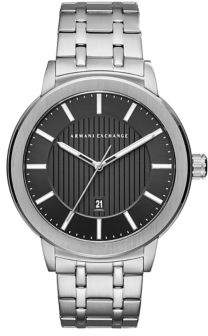 Armani Exchange Stainless Steel Textured Bracelet Watch