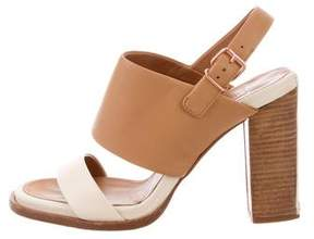 Veronique Branquinho Leather Ankle Strap Sandals