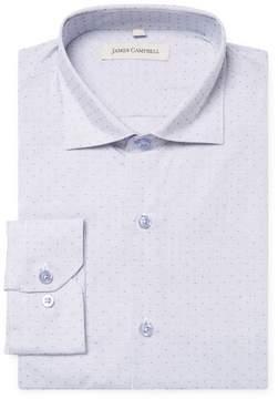 James Campbell Men's Printed Barrel Spread Dress Shirt