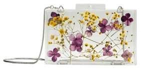 MANGO Flowers transparent box clutch