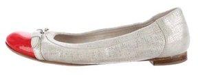 AGL Suede Cap-Toe Ballet Flats