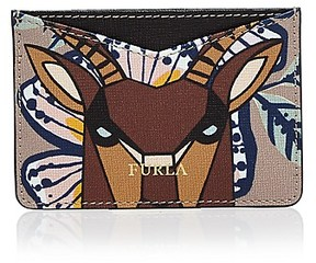 Furla Gioia Printed Leather Card Case
