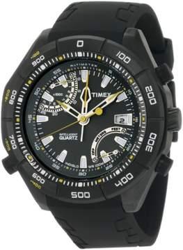Timex T2N729 Men's Black Analog Watch With Black Dial