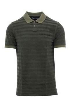 Calvin Klein Jeans Men's Green Cotton Polo Shirt.