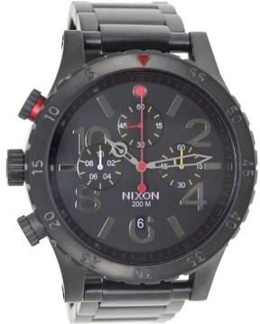 Nixon Men's 48-20 Chrono A4861320 Black Stainless-Steel Quartz Fashion Watch