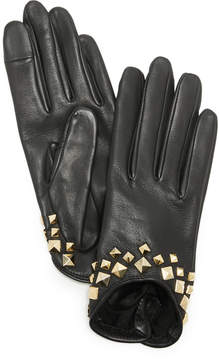 Agnelle Josie Stud Leather Gloves