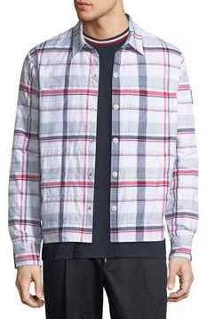 Moncler Gamme Bleu Giubbotto Check Snap-Front Jacket