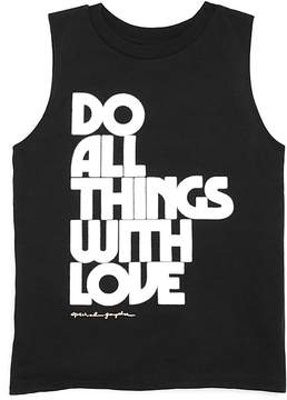 Spiritual Gangster Girls' Do All Things with Love Tank - Little Kid