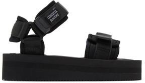 Suicoke Black CEL Flatform Sandals