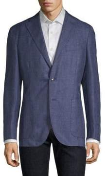 Boglioli Tonal Plaid Wool-Blend Blazer
