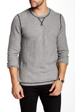 Autumn Cashmere Cashmere Honeycomb Contrast Stitch Sweater