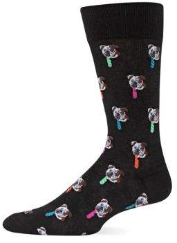 Hot Sox Bulldog Tie Crew Socks