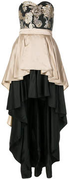 Christian Pellizzari double skirt bustier dress