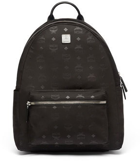 MCM Dieter Monogramed Canvas Backpack, Black