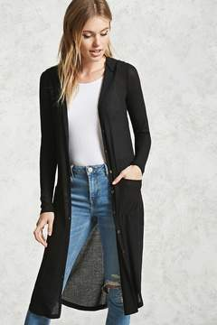 Forever 21 Ribbed Hooded Cardigan