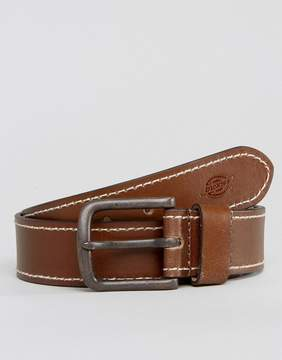 Dickies Branchville Leather Belt with Contrast Stitching