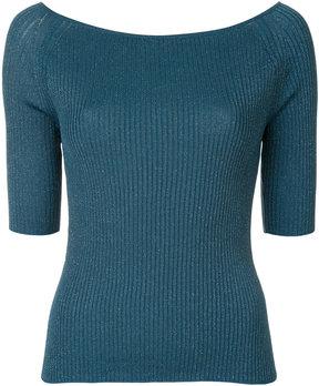 ESTNATION metallic thread knitted top