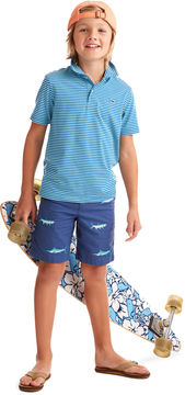 Vineyard Vines Boys Anglers Fish Embroidered Shorts
