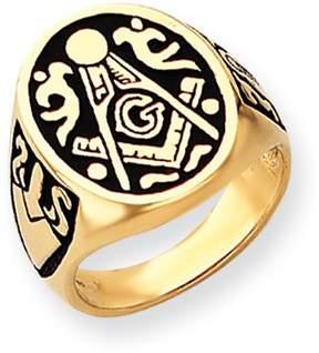 Ice 14k Men's Masonic Ring