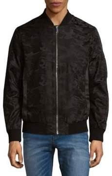 Karl Lagerfeld Long Sleeve Printed Bomber Jacket