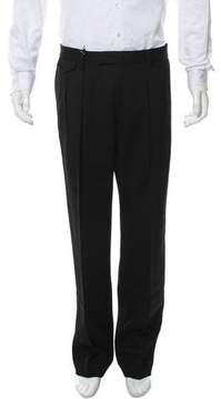 Kris Van Assche Virgin Wool Flat Front Pants