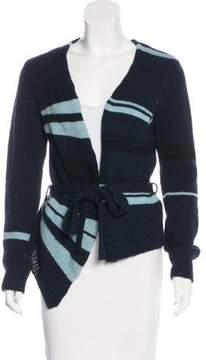 Dries Van Noten Wool Striped Cardigan