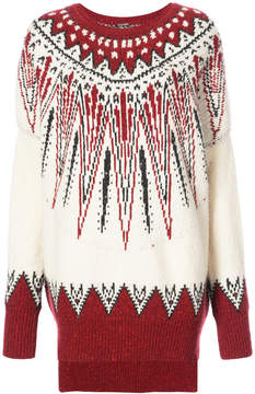 ADAM by Adam Lippes Marled wool cashmere fair isle sweater