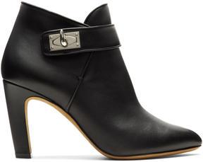 Givenchy Black Shark Lock Heeled Boots