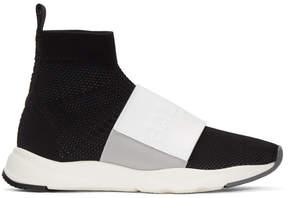 Balmain Black and White Cameron High-Top Sneakers