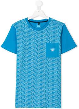 Emporio Armani Kids TEEN logo printed T-shirt