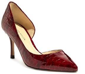 Karen Millen Women's Croc-Embossed Patent Leather Mid Heel Pumps