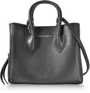 Coccinelle Farisa Black Pebbled Leather Mini Tote Bag