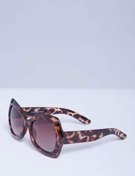Lane Bryant Oversized Butterfly Frame Sunglasses - Tortoiseshell