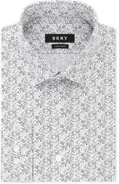 DKNY Men's Slim-Fit Stretch Print Dress Shirt, Created for Macy's