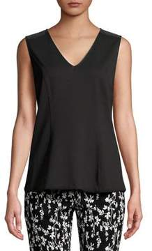 Isaac Mizrahi IMNYC V-Neck Bow Back Fitted Shell Top